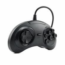 HAOBA Classic SEGA USB Wired 6 Buttons Gamepad USB Game Controller Joypad for SEGA Genesis/MD2 Y130/ PC /MAC Mega Drive