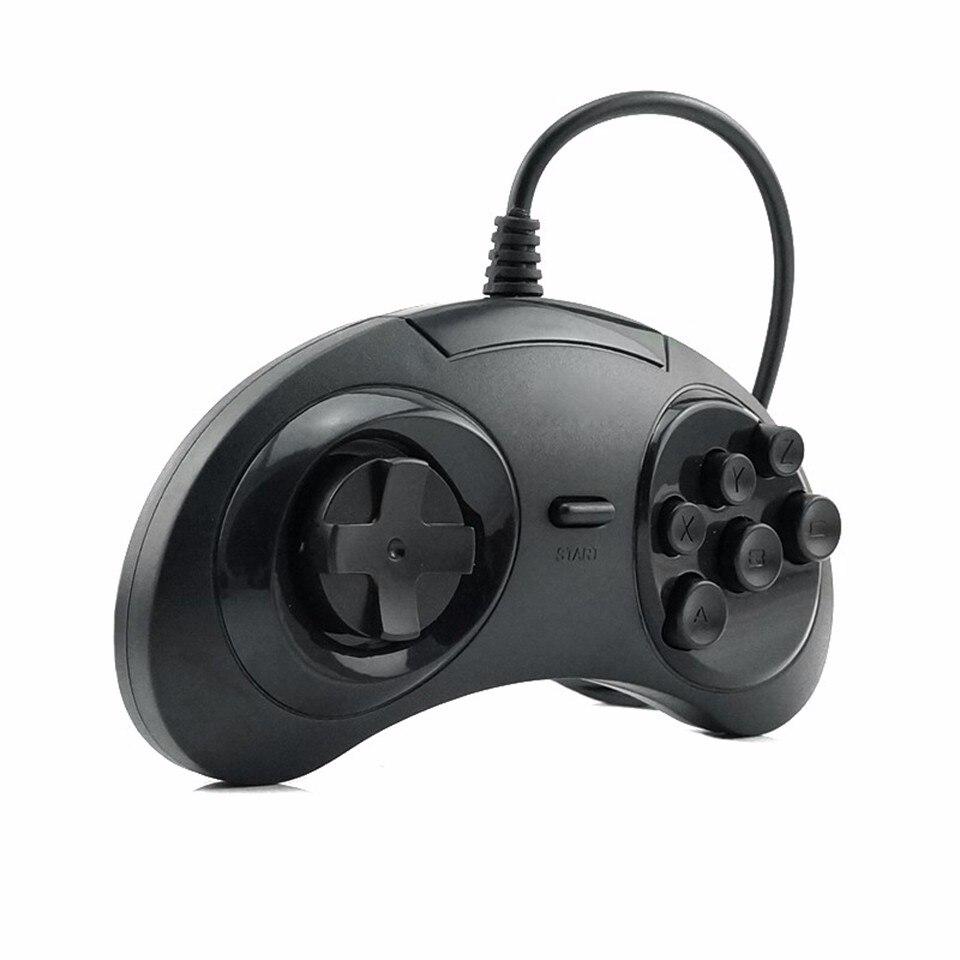 HAOBA Classique SEGA USB Filaire 6 Boutons Gamepad USB Contrôleur de Jeu Joypad pour SEGA Genesis/MD2 Y130/PC/MAC Mega Drive
