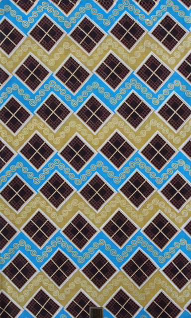 African Wax Plaid Print Fabric Leaves Swiss Switzerland Lace Luxury Contrast Color Textile Hollandais
