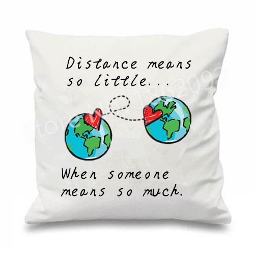 Long Distance Relationship Pillow.Us 13 49 10 Off Long Distance Relationship Cushion Cover Love Decorative Throw Pillow Case Valentine Wedding Gift Home Sofa Decor 18