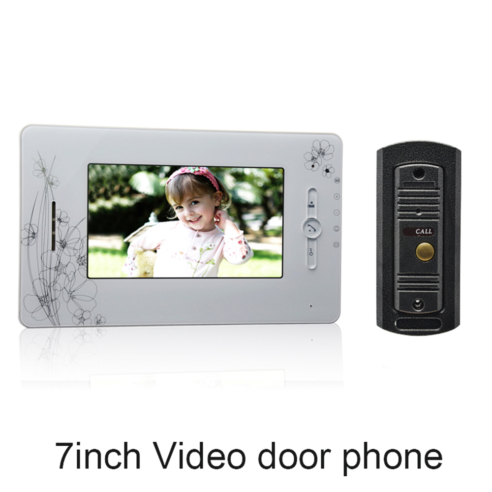 (1 set) 7 Inch Colorized Screen Intercom Phone 1 to 1 Video Door Phone System Door access Control Night Version Camera Talkback