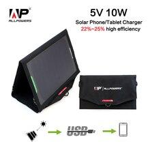 ALLPOWERS 10W Caricatore Del Telefono Solare 5V 1.6A USB Portatile del Caricatore del Pannello Solare per Telefoni cellulari e Smartphone