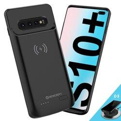 Беспроводной аккумулятор чехол для S8 S8 Plus S9 S9Plus Note 8 note 9 S10E S10 S10 Note 10 Plus Qi Беспроводная зарядка функция получения