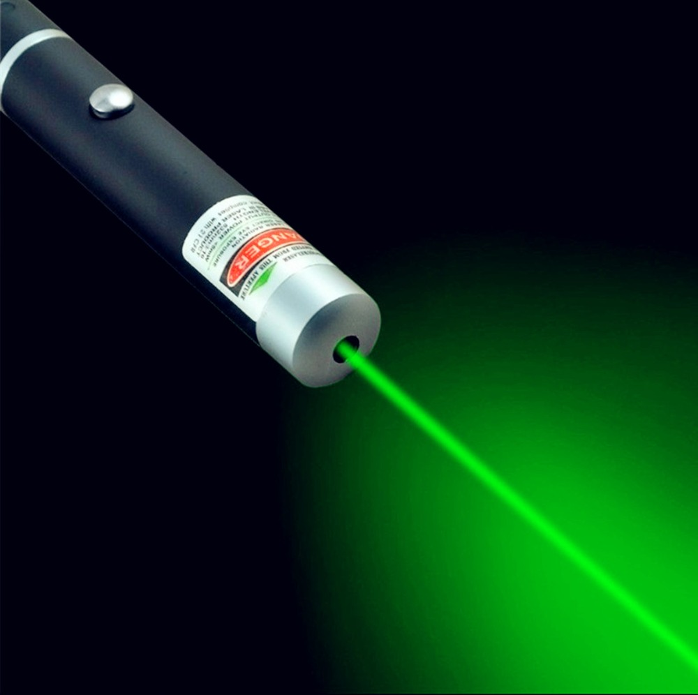 1Pc 5mW 532nm Green Laser Pen Powerful Laser Pointer Presenter Remote Lazer Hunting Laser Bore Sighter Without Battery Free Ship 5mw red green laser pointer laser pen presenter present pen with star cap