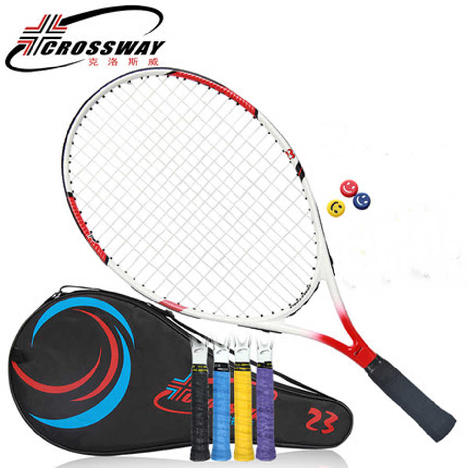 23InchesTennis Racquet เด็กคาร์บอนแร็กเก็ตเทนนิสวัยรุ่น Raquete De Tenis Raquette เทนนิสสตริงเทนนิสกระเป๋าเด็กแร็กเก็ต