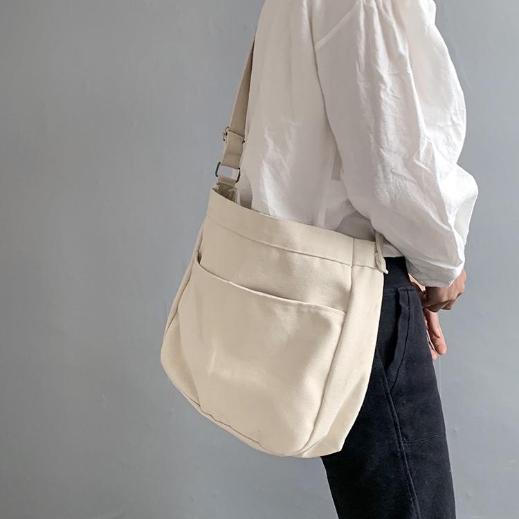 Fashion Preppy Style Women Hasp Canvas Bags Shoulder Bags 2019 New Female Casual Soft Zipper Canvas Handbags Messenger Bags