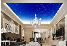 wallpaper 3d ceiling Star Moon Living Room Ceiling Fresco mural 3d wallpaper 3d ceiling murals wallpaper(China)