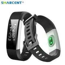Smarcent оригинальный ID115 плюс сердечного ритма Smart Band 0.96 «oled ID115 HR Bluetooth напоминание Фитнес трекер умный Браслет