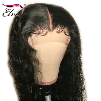 Elva Lace Front Human Hair Wigs For Black Women Curly Lace Front Wig Pre Plucked With Baby Hair Remy Brazilian Human Hair Wigs