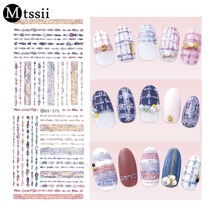 Mtssii Water Transfer Nails Art Sticker 2017 New Harajuku Element Cats Kitty Caterpillar Nail Wrap Sticker Manicura sticker