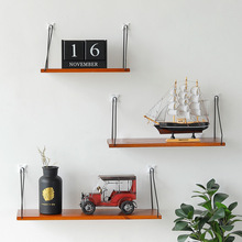 Nordic Style Craft Storage Shelf Colorful Wood Shelves Wall Clapboard Decoration Children Room Store Display Flat Plate Hanging