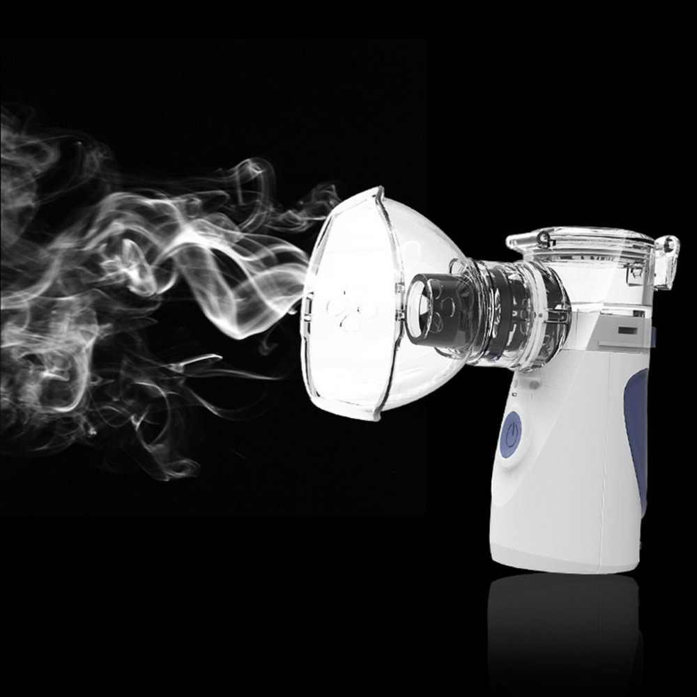 מיני כף יד הנביולייזר מהביל כלי בריאות מרסס נייד הנשמה אדים למבוגרים ילד משאף Nebulizer