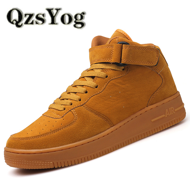 QzsYog Big Size 39-45 Running Shoes For Men High Top Air Sneakers Outdoor Sport Athletic Damping Men Trainer Walking Jogging Red
