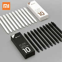 10 unids/lote Original Xiaomi KACO 0,5mm Xio mi firma P E N chica tinta escritura suave Durable firma suministros de escritura recarga negra