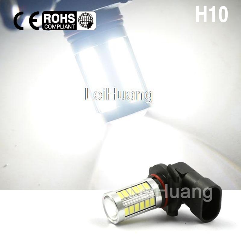 High power 9145 9140 9005 H10 white LED Bulb 33 LED For Fog Light Driving Light Replacement