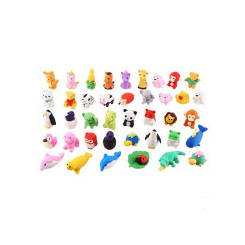 3 шт. креативные животные милые ластик школьные офисные принадлежности для экзамена карандаш стираемый инструмент и игрушка смешанный случайный цвет и случайный дизайн