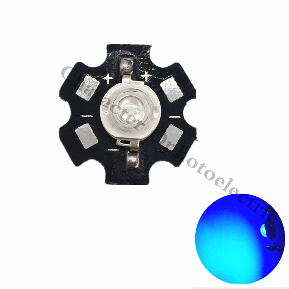 10-100 pcs 1W/3W <font><b>Blue</b></font> 465-<font><b>470nm</b></font>/ Royal <font><b>Blue</b></font> 445-455NM High Power <font><b>LED</b></font> Emitter 700mA with 20mm Star PCB image