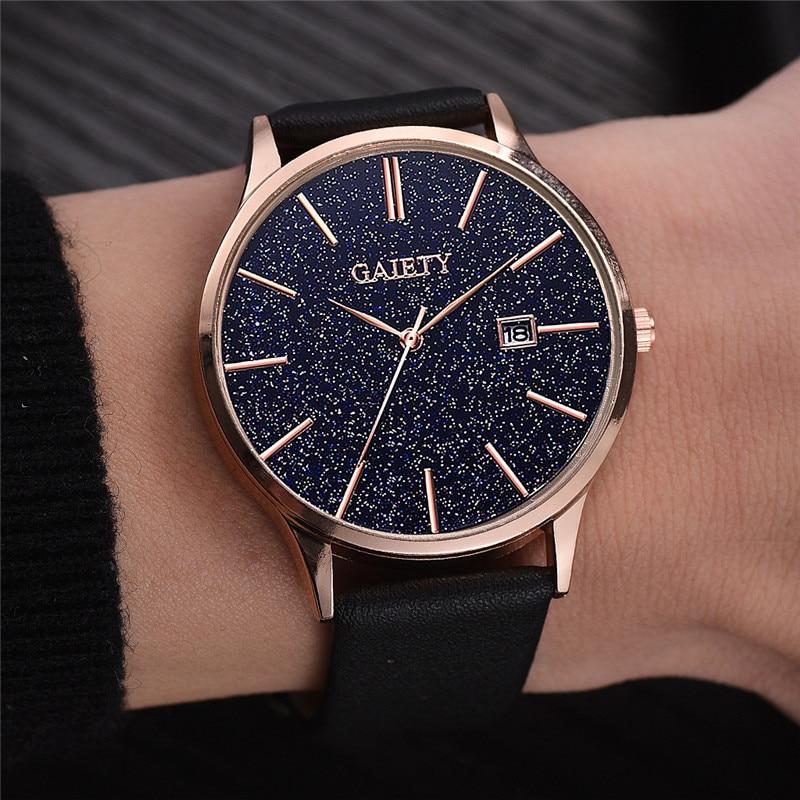 Mens Watches 2019 Top Brand Luxury Ultra-thin Wrist Watch Relogio Masculino Starry Sky Quartz Clock erkek kol saati reloj hombre