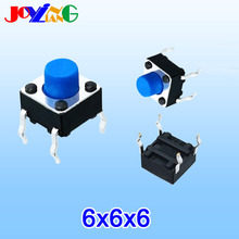 JOYING LIANG Blue 6*6*6MM Vertical Four-foot Touch Switch 4-foot Micro Key 6x6x6MM Copper Foot
