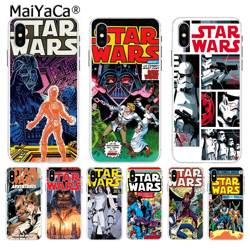 MaiYaCa star wars marvel comics Adorable Back Phone Accessories cover for iPhone8 7 6 6S Plus X XS max 10 5 5S SE XR Coque Shell image