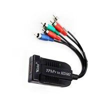 5 rca ypbpr компонент для hdmi hdtv Видео Аудио конвертер