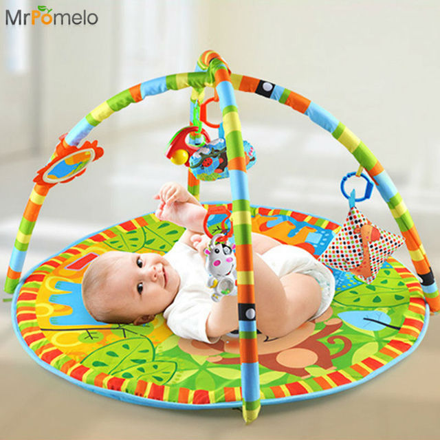 3a3f8c7a88b MrPomelo Newborns Indoor Activity Infant Play Mat Gym Educational Toy  Fitness Frame Multi-bracket Baby Toys Game Mats for Babies