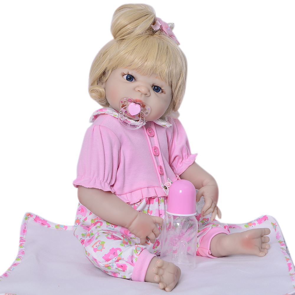 Fashion 23'' Newborn Dolls Lifelike Reborn Dolls Babies Full Body Silicone Vinyl XMAS Gift For Girl Realistic Bonecas Playmates new dk denmark top case topcase palmrest with keyboard backlight for macbook air 13 3 a1466 2013 2014 2015 years