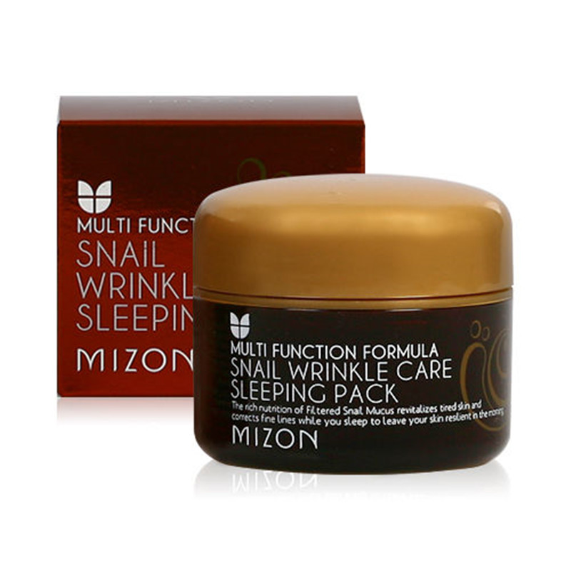 MIZON Snail Wrinkle Care Sleeping Pack 80ml Face Skin Care Moisturizing Firming Anti Wrinkle Night Treatment Sleep Facial Mask spc snail secretion face mask value pack 50 sheets