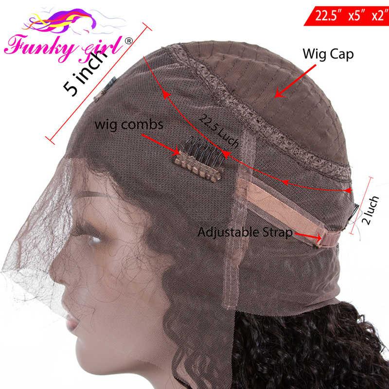 Funky Girl, 360, кружевной передний парик, бразильский парик Remy, прямые 360, полный кружевной передний парик, человеческие волосы, парики для женщин, предварительно сорванные с волосами младенца