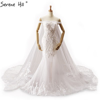 Vintage Off Shoulder Sexy Lace Wedding Dresses 2017 White Pearls Sequined Mermaid Bridal Gown Vestido De