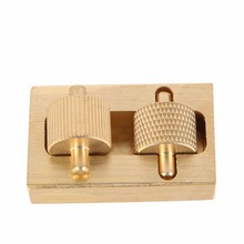 Mini Leather Craft Making Tool Oil Painting Box + 2 Rollers Brass DIY Hand Making Sewing Tools Sets Sale