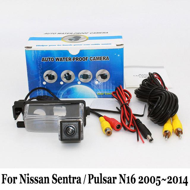 Cámara de Visión Trasera Para Nissan Sentra/Pulsar N16 2005 ~ 2014/con conexión de cable O Inalámbrica/HD CCD de Visión Nocturna/Lente Gran Angular cámara