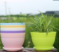 PP resin balcony thick flower pots