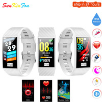 For Samsung Galaxy S9 Plus S8 Plus Smart Wristband ECG Heart Rate Blood Pressure Fitness Tracker Watch Sport Smart Bracelet Band