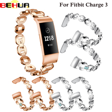 Watch Bands for Fitbit Charge 3 Smart watch Band Stainless Steel Metal Wrist Strap Women Jewelry Bracelet for Charge 3 Straps все цены