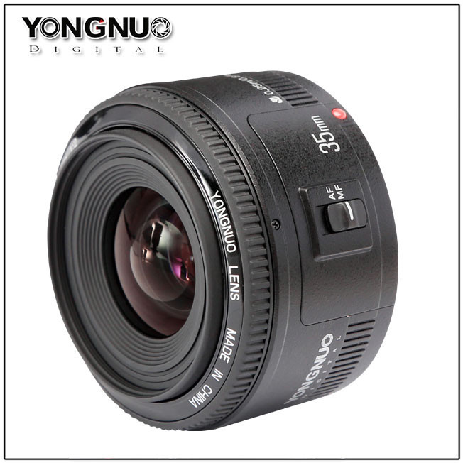 YONGNUO 35mm Lens YN35mm F2 Lens 1:2 AF / MF Wide-Angle Fixed/Prime Auto Focus Lens For Canon EF Mount EOS Camera