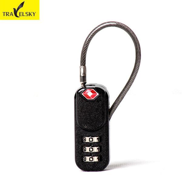TSA Customs Metal Suitcase Lock – Black Anti-theft Lock with Passcode