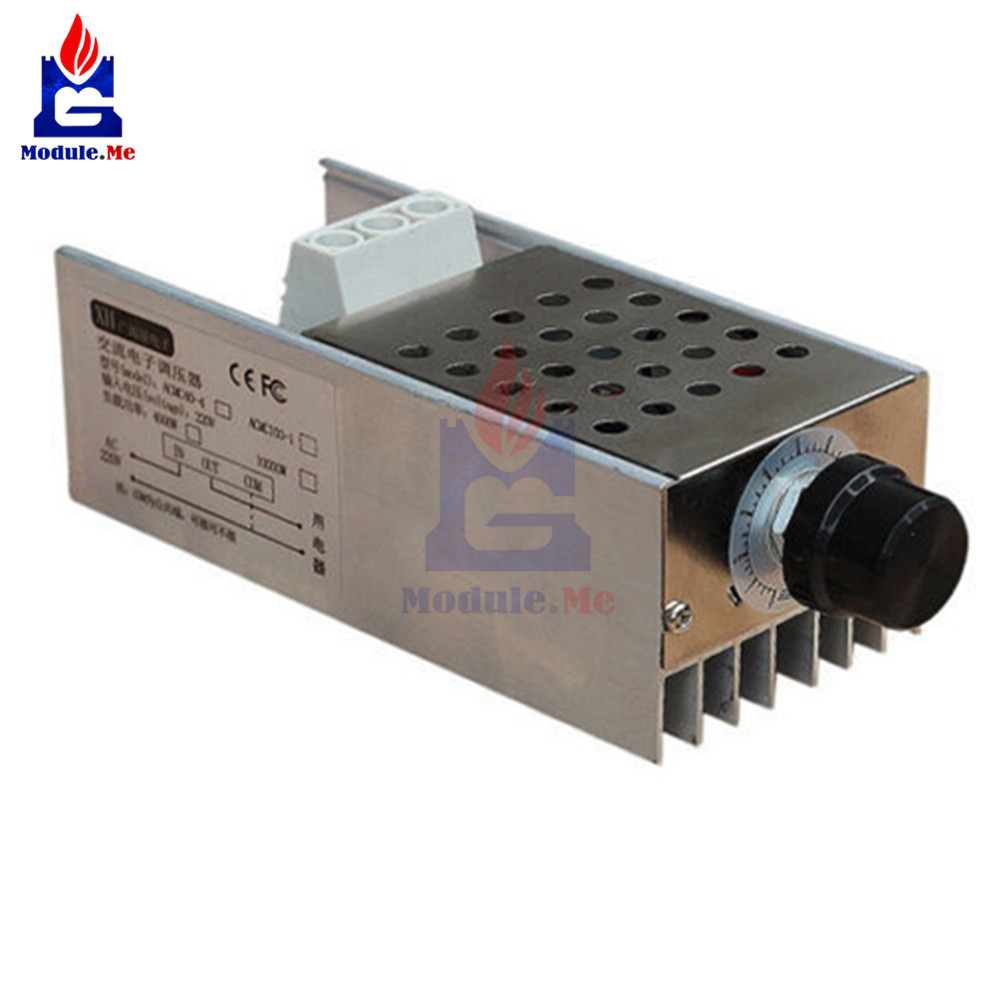 10000W SCR 25A Voltage Regulator Speed Controller Dimmer Thermostat AC 110V 220V10000W SCR 25A Voltage Regulator Speed Controller Dimmer Thermostat AC 110V 220V