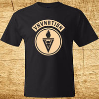 New VNV Nation Electronic Music Band Logo Men S Black T Shirt Size S 3XL New