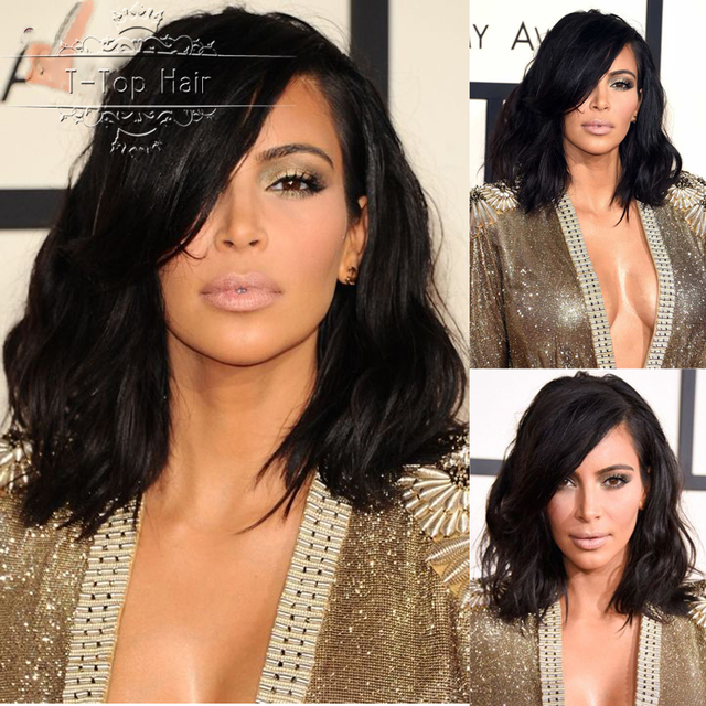 Kim Kardashian Bob Haircut Virgin Brazilian Hair Lace Front Wig