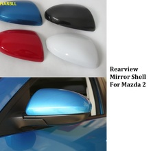 HARBLL 2 PCS Rearview Mirror Shell Rear-view Mirror Cover For Mazda 2