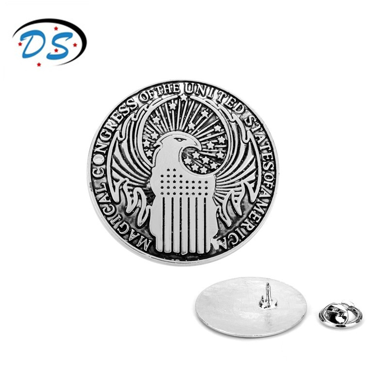 dongsheng jewelry Magic Association Brooch pins Fantastic Beasts and Where to Find Them Movie Accessories Breastpin enamel pin