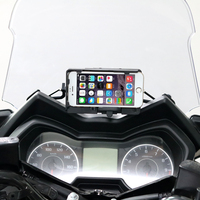 Motorcycle USB Charger Mobile Phone Holder Stand Bracket For Yamaha XMAX125 250 XMAX300 400 2017 2018