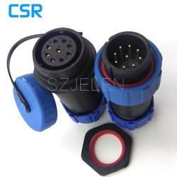 SP2110/P9 S9  9 wtyk wodoszczelny  męskie i żeńskie złącza  urządzeń przemysłowych złącza zasilania 9 pinowe gniazdo wtykowe w Złącza od Lampy i oświetlenie na