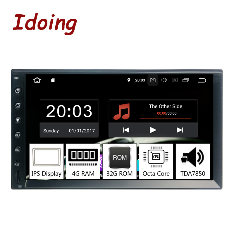 Idoing 2Din 7PX5 4G+32G Octa Core Universal Car GPS Radio Player Android 9.0 IPS screen Navigation Multimedia Bluetooth TDA7850