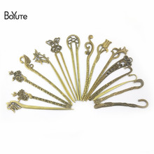 BoYuTe (10 Pieces/Lot) Metal Alloy Antique Bronze Vintage Hair Stick Can be Bookmark Diy Hand Made Jewelry Accessories Wholesale