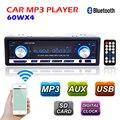 Новый 12 В автомобильный радиоприемник BLUETOOTH авторадио 1-дин стерео FM передатчик USB / SD AUX аудио MP3 плеер автомобиля в-dash 60Wx4 для телефона
