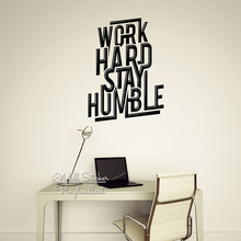 Work Hard Stay Humble Quote Wall Sticker Motivational Decal DIY Cut Vinyl Removable Decor Q58