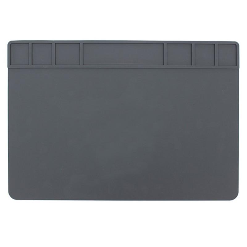 New 490x350x5Mm Heat Insulation Silicone Pad Desk Mat Heat-Resistant Maintenance Platform For Bga Soldering Phone Pc Repair St