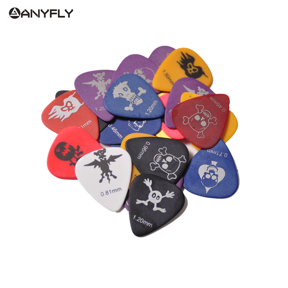 30Pcs Alice AP-30D Monster Pattern Matte Celluloid Guitar Picks Plectrums Clamshell Free Shipping